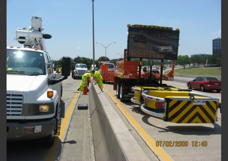 Median Concrete Barrier Replacement