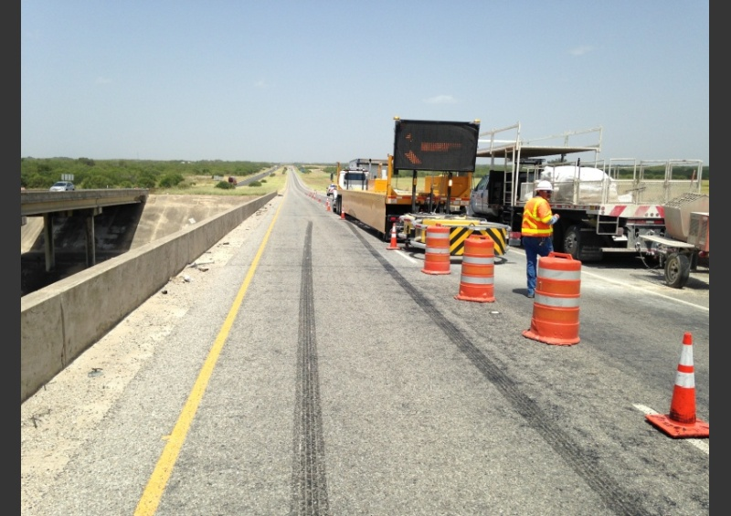 TxDOT Work Zone Barrier Hit