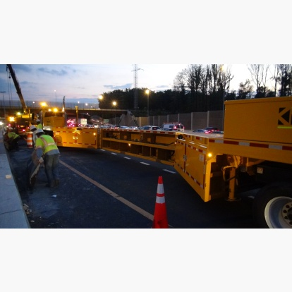 Median Concrete Barrier Repair