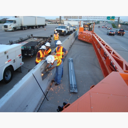 Median Concrete Barrier Repair in Dallas Texas TxDOT