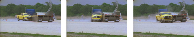 Image Sequence from Crash Test of Mobile Barriers MBT-1®.